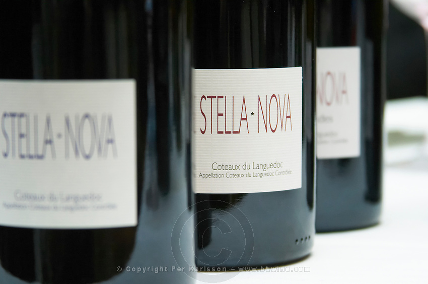 Domaine Stella-Nova. Pezenas region. Languedoc. France. Europe. Bottle.