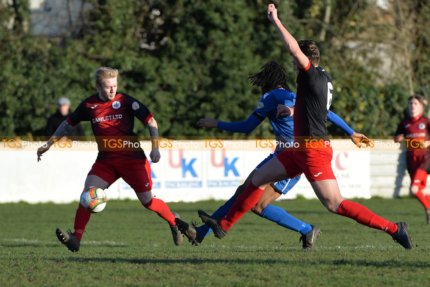 Dwade James of Walthamstow scores the third Goal and celebrates during Walthamstow vs Sawbridgeworth Town, Essex Senior League Football at Wadham Lodge Sports Ground on 8th February 2020