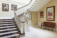 During the renovation of the house, the removal of a false ceiling across the main staircase revealled the full height of John Soane's original plan, with light pooring in from an oculus above