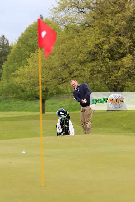 C. Geraghty (Laytown & Bettystown) chipping onto the 4th green during the Mullingar Scratch Trophy Day 1at Mullingar Golf Club Belvedere 18th May 2013.Picture: Thos Caffrey www.golffile.ie...