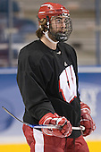 Kyle Klubertanz - The University of Wisconsin Badgers practiced on Wednesday, April 5, 2006, at the Bradley Center in Milwaukee, Wisconsin.  The Badgers won the Title by defeating Maine on April 6 and Boston College on April 8.