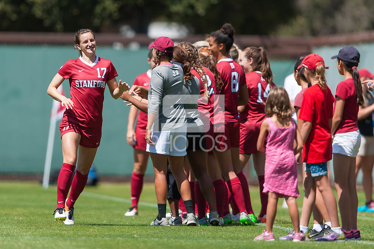 Stanford, CA - September 4, 2016:  Andi Sullivan during the Stanford vs Marquette Women's soccer match in Stanford, California.  The Cardinal defeated the Golden Eagles 3-0.