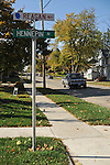 Hennepin Avenue, the street former U.S. President Ronald Reagan spent part of his boyhood, is also known as Reagan Way in Dixon, Illinois on October 26, 2008.