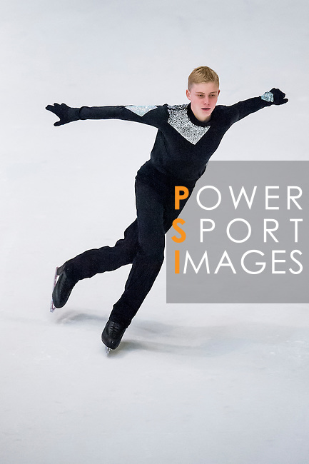 Andrey Lebedev competes Asian Junior Figure Skating Challenge 2015 on October 07, 2015 at the Festival Walk Mall in Hong Kong, China. Photo by Aitor Alcalde/ Power Sport Images