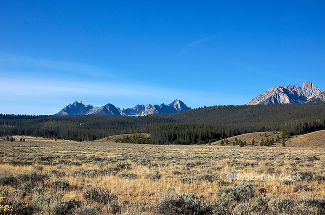 Sawtooth Mountains near Galena Summit North of Sun Valley, Idaho