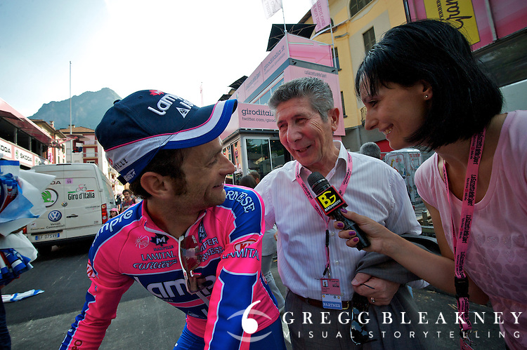 Pietro Santini with SMS sponsored team and rider Scarponi/Lampre
