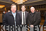 Ned O'Sullivan, Jimmy Moloney and   pictured at the Fianna Fail meeting at the Brandon Hotel on Friday.