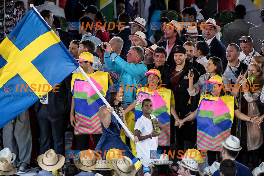 Therese Alshammar Sweden Team<br /> Rio de Janeiro 06-08-2016 XXXI Olympic Games <br /> Maracana' Stadium <br /> Opening Ceremony 05/08/2016<br /> Photo Giorgio Scala/Deepbluemedia/Insidefoto
