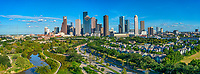 Aerial Houston Skyline Panorama - Color Canvas Prints -<br />