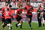 12.05.2018, BayArena, Leverkusen, GER, 1.FBL, Bayer 04 Leverkusen vs Hannover 96, im Bild die Mannschaft von Leverkusen beim Aufwaermen<br /> <br /> <br /> Foto &copy; nordphoto/Mauelshagen