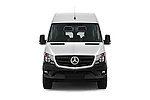 Car photography straight front view of a 2016 Mercedes Benz Sprinter-Crew-Van 2500-170-WB-High-Roof 4 Door Combi Front View