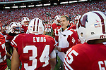 Wisconsin Badgers assistant coach Joe Rudolph talks to the kickoff team prior to the NCAA college football game against the Ohio State Buckeyes on October 16, 2010 at Camp Randall Stadium in Madison, Wisconsin. The Badgers beat the Buckeyes 31-18. (Photo by David Stluka)