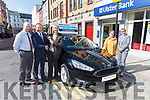 CU CAR WINNER: Ned Barnes is the latest winner of a car, a Ford Focus Style 1.5 TDCi, which he received from Tralee Credit Union on Thursday morning. Pictured were: Fintan Ryan (CEO Tralee CU), Stephen Benner (Kerry Motor Works), Ned Barnes, Sheila Barnes and Marcella Herlihy (TCU).