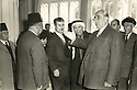 Syrie 1958.Le president syrien faisant face a Omar Shemdin et derriere lui, a droite de la photo,Hassan Hajo.Syria 1958.The Syrian president with Omar Shemdin and on the right on the photo, Hassan Hajo
