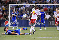 Salou Ibrahim #29, Jimmy Conrad...Kansas City were defeated 3-0 by New York Red Bulls at Community America Ballpark, Kansas City, Kansas.