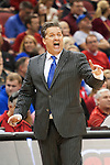 Head coach John Calipari of the Kentucky Wildcats during the game against  the Louisville Cardinals at KFC Yum! Center on Saturday, December 27, 2014 in Louisville `, Ky. Kentucky defeated Louisville 58-50. Photo by Michael Reaves | Staff