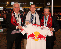 Corey Hertzog with Ny RedBulls coaches at the 2011 MLS Superdraft, in Baltimore, Maryland on January 13, 2010.