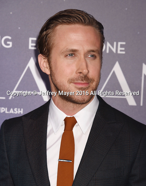 WESTWOOD, CA - DECEMBER 06: Actress Ryan Gosling arrives at the Premiere Of Lionsgate's 'La La Land' at Mann Village Theatre on December 6, 2016 in Westwood, California.