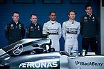 JEREZ. SPAIN. FORMULA 1<br /> 2013/14 en el Circuito de Jerez 28/101/2014 La imagen muestra al equipo Mercedes AMG Petronas  Lewis Hamilton y  Nico Rosberg LP / Photocall3000