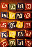 Children's blocks - work play.