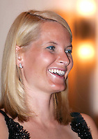 Crown Prince Haakon & Crown Princess Mette-Marit of Norway's three-day visit to Poland..Attending a reception to promote Norwegian seafood at the Radisson SAS Centrum Hotel in Warsaw.