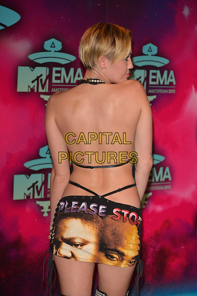 AMSTERDAM, NETHERLANDS - NOVEMBER 10:  Miley Cyrus attends the MTV EMA's 2013  at the Ziggo Dome on November 10, 2013 in Amsterdam, Netherlands.<br /> CAP/PL<br /> &copy;Phil Loftus/Capital Pictures