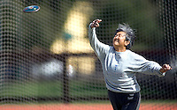 PALO ALTO, CA--Fifty Plus Bay Area Senior Games at Stanford University, Sunday, March 12, 2006 . PHOTO ©Ê2006 DON FERIA/ALL RIGHTS RESERVED.