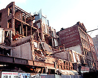 Young and Schmuck sign on 8th Ave. between West 47 and West 48 Streets revealed during demolition of buildings on September 14, 2000. (© Richard B. Levine)