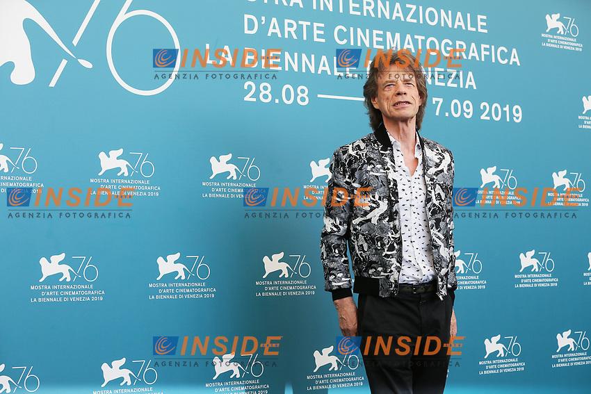 "VENICE, ITALY - SEPTEMBER 07: Mick Jagger attends ""The Burnt Orange Heresy"" photocall during the 76th Venice Film Festival at Sala Grande on September 07, 2019 in Venice, Italy. (Photo by Mark Cape/Insidefoto)<br /> Venezia 07/09/2019"