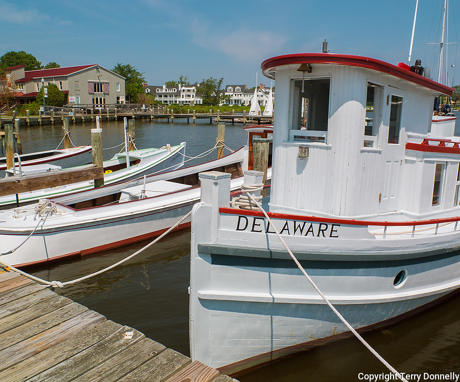 """Chesapeake Bay Maritime Museum, St. Michaels, Maryland<br /> Bow of the historic 1912 wood tugboat """"Delaware"""""""