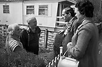 """Thorpe works for us."" Jeremy Thorpe on the election campaign trail mid Devon constituency 1979 with his wife Marion..."