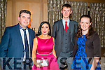 Having a great time at the Lee Strand annual social in Ballygarry House Hotel & Spa,Tralee on Saturday night l-r: John Walker,Teresa Higgins-Walker (Ballymacelligott),Eoin and Marie McCarthy (Banna Ardfert)