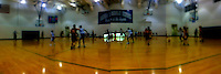 Seventh grade girls basketball game with iPhone and Quadcamera app.
