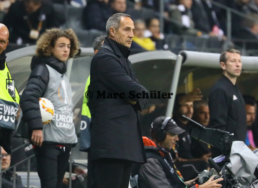 Trainer Adi Hütter (Eintracht Frankfurt) - 25.10.2018: Eintracht Frankfurt vs. Apollon Limassol FC, Commerzbank Arena, Europa League 3. Spieltag, DISCLAIMER: DFL regulations prohibit any use of photographs as image sequences and/or quasi-video.