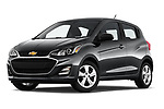 Stock pictures of low aggressive front three quarter view of a 2019 Chevrolet Spark LS Select Doors Door Hatchback