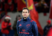 9th December 2017, Thomond Park, Limerick, Ireland; European Rugby Champions Cup, Munster versus Leicester Tigers; Johann Van Graan, (Munster Coach) pictured on his  European Champions cup debut