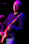 The founder, guitarist, singer of the great band Dire Straits, Mark Knopfler, during their performance in San Sebastian