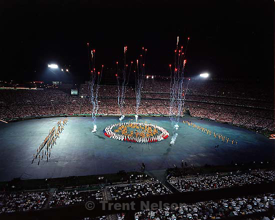 at the Opening Ceremony of the 1996 Summer Olympic Games<br />
