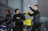 Fleetwood Town manager Joey Barton gives the thumbs up to the fans at the end of the game<br /> <br /> Photographer Chris Vaughan/CameraSport<br /> <br /> The EFL Sky Bet League One - Saturday 23rd February 2019 - Burton Albion v Fleetwood Town - Pirelli Stadium - Burton upon Trent<br /> <br /> World Copyright © 2019 CameraSport. All rights reserved. 43 Linden Ave. Countesthorpe. Leicester. England. LE8 5PG - Tel: +44 (0) 116 277 4147 - admin@camerasport.com - www.camerasport.com