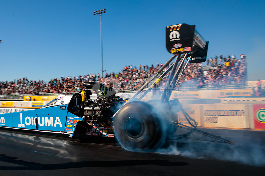 Jul 27, 2019; Sonoma, CA, USA; NHRA top fuel driver Leah Pritchett during qualifying for the Sonoma Nationals at Sonoma Raceway. Mandatory Credit: Mark J. Rebilas-USA TODAY Sports
