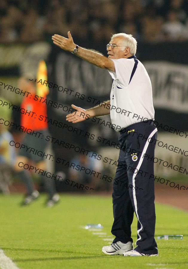 Fudbal, kvalifikacije za ligu sampiona 2008/09.Partizan Vs. Fenerbahce (Istanbul).Head coach Luis Aragones.Baku, 08.13.2008..foto: Srdjan Stevanovic ©