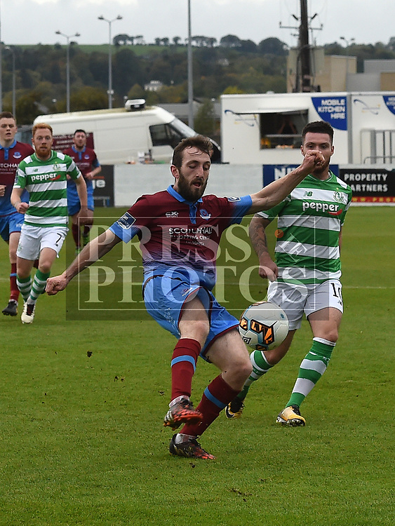 Drogheda United Colm Deasy Shamrock Rovers Brandon Mieli. Photo:Colin Bell/pressphotos.ie