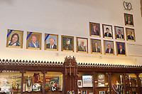Blue Leadership Awards, Yale University Athletics. Award Honoree Portraits hanging in the Kiphuth Trophy Room, Payne Whitney Gymnasium.