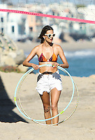 Alessandra Ambrosio shows off her bikini body and spends time with daughter_Anja and friends_on the beach in Malibu. Los Angeles, California on 8.7.2012..Credit: Correa/face to face.. /MediaPunch Inc. ***FOR USA ONLY*** ***Online Only for USA Weekly Print Magazines***