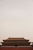 Daytime vertical view of the Meridian Gate of the Zijin Cheng in Dongcheng, Beijing  © LAN