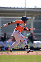 Baltimore Orioles Ademar Rifaela (55) during a minor league spring training game against the Boston Red Sox on March 18, 2015 at the Buck O'Neil Complex in Sarasota, Florida.  (Mike Janes/Four Seam Images)