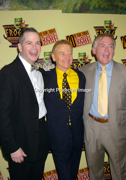 """Peter Bartlett, John Byner and Daniel Davis ..at the opening night party for Lincoln Center's Production of ..""""The Frogs"""" on July 22, 2004 at The Tavern on the Green. ..Photo by Robin Platzer, Twin Images"""
