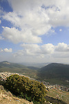 Israel, Upper Galilee, a view from road 864