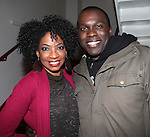 Adriane Lenox & Joshua Henry backstage at Encores! 'Cotton Club Parade' at City Center in New York City on 11/17/2012