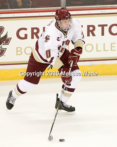 Jimmy Hayes (BC - 10) - The Boston College Eagles defeated the visiting University of Toronto Varsity Blues 8-0 in an exhibition on Saturday, October 3, 2010, at Conte Forum in Chestnut Hill, MA.